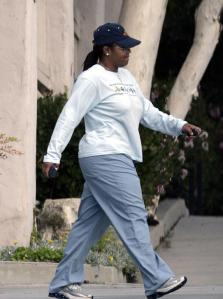 EXCL.: Chubby singer JANET JACKSON after having an appointment with an acupuncture expert