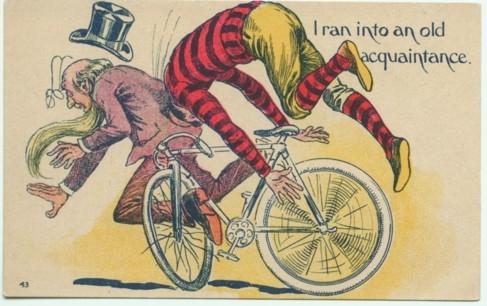 cyclist hits pedestrian 20120410
